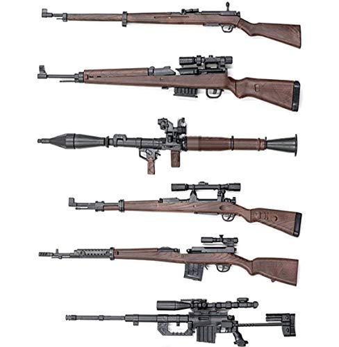 1/6스케일 RPG 저격총 디오라마 피규어 6점 세트 1/6핸드 건6 점덤 첨부 무기총