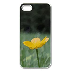 Buttercup Flower Watercolor style Cover iPhone 5 and 5S Case (Flowers Watercolor style Cover iPhone 5 and 5S Case)