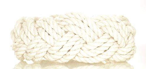 Mystic Knotwork Sailor Bracelet (Original Large (Wrist 7-8 in), Natural) made in New England