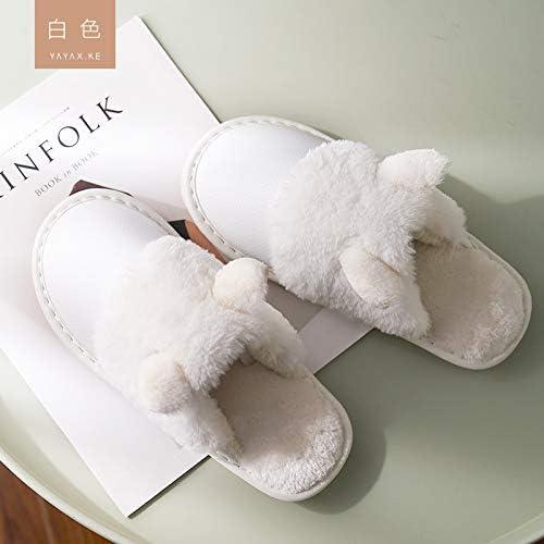 WXMTXLM Zapatillas de algodón mujer invierno interior ...