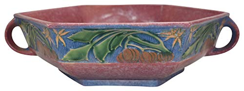 (Roseville Pottery Baneda Pink Ceramic Console Bowl 237-12)