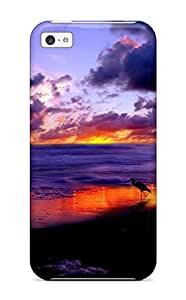 (CjmqxCY10167xHzPl)durable Protection Case Cover For Iphone 5c(bird And Sunset Beach Sundown Sand Nature Other)