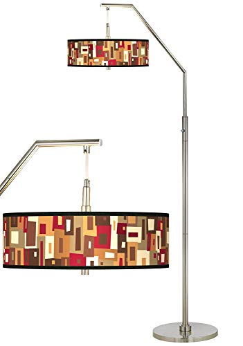 (Earth Palette Giclee Shade Arc Floor Lamp - Giclee Glow)