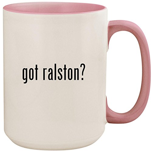 got ralston? - 15oz Ceramic Colored Inside and Handle Coffee Mug Cup, ()