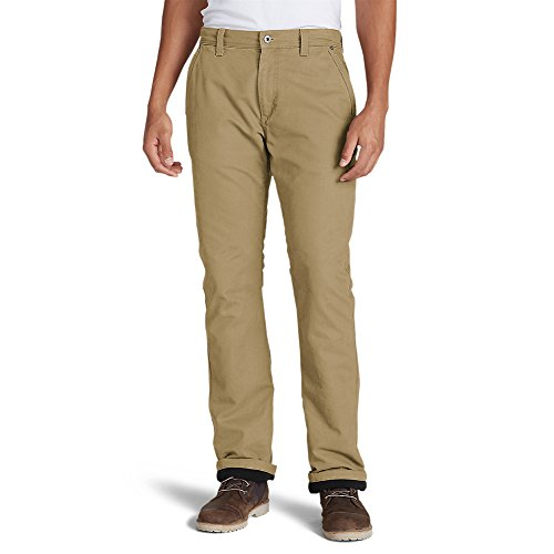 Eddie Bauer Men's Lined Canvas Mountain Pants, Saddle Regular (Lined Saddle)