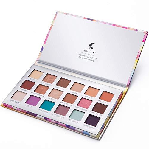 18 Color Eyeshadow Pallete Glitter Makeup Matte Long-Lasting Make Up Palette Maquillage silver