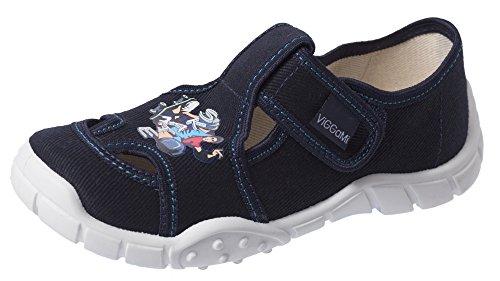 Viggami Niños Pantuflas con Hebilla Adas Azul Oscuro