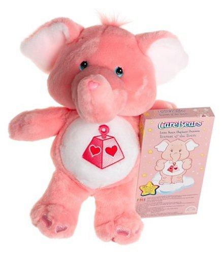 2 Plush Pink Care Bear Cousins Lotsa Heart Elephants