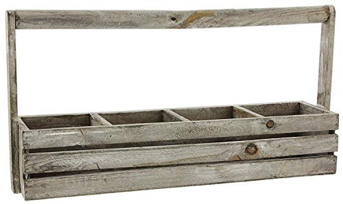 Rustic Wood Basket Planter Holder, 14.5