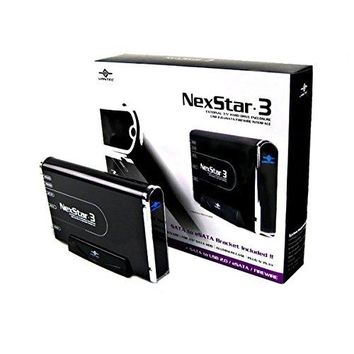 (Vantec NexStar 3 NST-360UFS-BK 3.5-Inch SATA to USB 2.0/eSATA/1394a External Hard Drive Enclosure (Onyx Black))