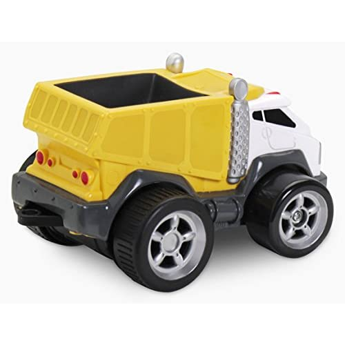 Kid Galaxy Squeezable Remote Control Dump Truck. Toddler RC Construction Toy, Yellow