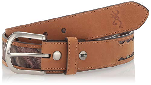 Browning Tab Belt   Mossy Oak Country   Brown   44 (Browning Belted Belt)