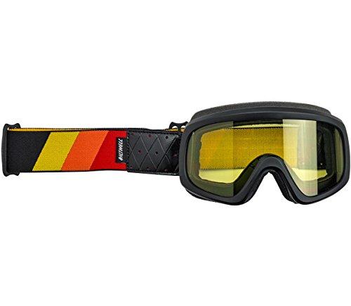 Biltwell Overland 2.0 Tri-Stripe Goggle - Black R/Y/O ()