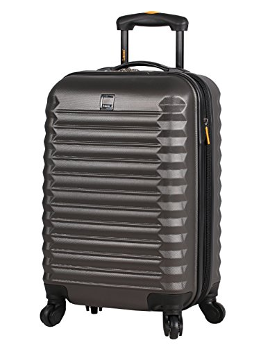 Lucas Outlander Luggage Carry On Hard Case 20 inch Expandable Rolling Suitcase Spinner Wheels (20in, Tread Charcoal)