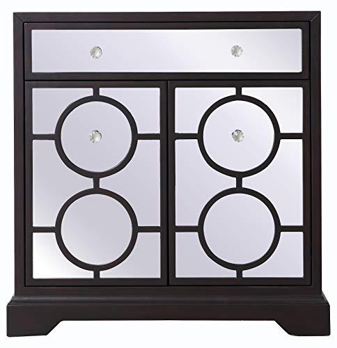 32 in. Mirrored Cabinet in Dark Walnut Dark Walnut