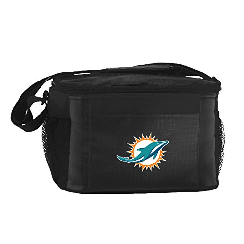 NFL Miami Dolphins Insulated Lunch Cooler Bag with Zipper Closure, - Dolphin Hours Mall