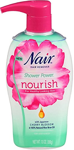 Nair Hair Remover Shower Power Nourish Pump For Legs & Body 13 oz (Pack of 4)