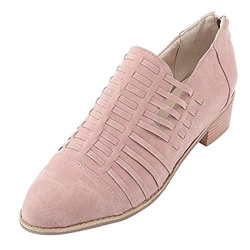 Rose Business Basse Block Kaki Respirant 34 Rose Eclair Rétro Femme Habillée Chaussures Sneakers 5cm Talon Ville Brogue Cuir Chaussure Élégant 44 Fermeture Automne Escarpins Noir q1CfRwZ