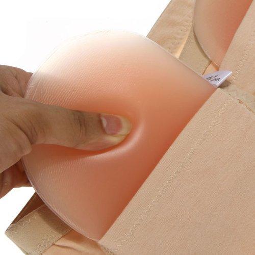 f40a9844489e Silicone Padded Panties Brief Underwear Power Shapewear Black/beige  (Medium, Beige)