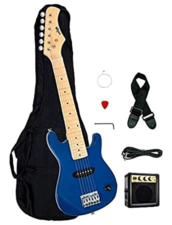 1 2 Half Size Kids Blue 30quot Inch Electric Guitar And Amplifier Pack
