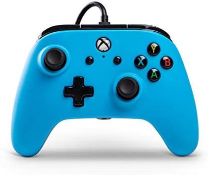 PowerA Mando con Cable con licencia oficial para Xbox One, Xbox One S, Xbox One X y Windows 10 - Azul: Amazon.es: Videojuegos