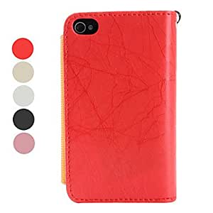 Megnet Pocket Style PU Leather Protective Case for iPhone 4 and 4S (Assorted Colors) --- COLOR:Black