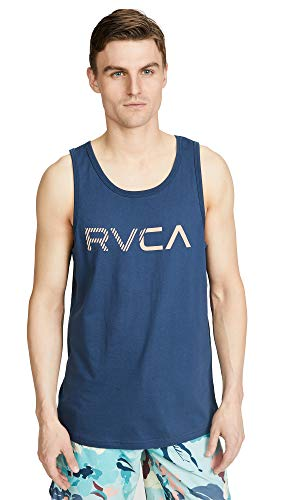 (RVCA Men's Blinded Tank TOP, Seattle Blue, S )