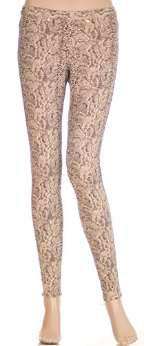 (Hue Women's Python Jeans Leggings, Black Pepper (X-Small))