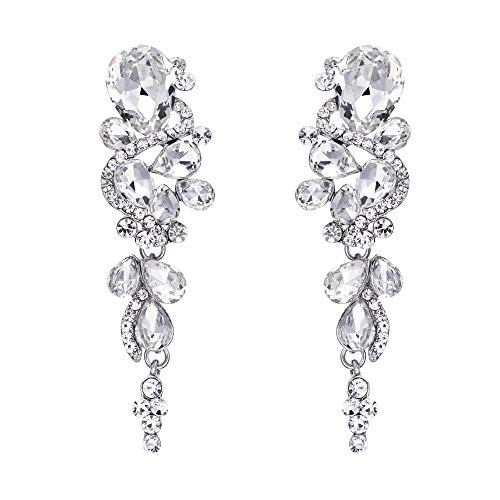 clear crystal earrings dangle - 9
