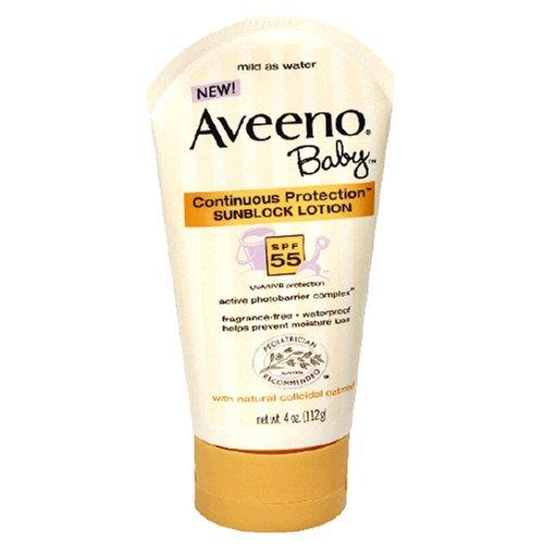 Aveeno Baby Sunblock Lotion, SPF 55 , 4-Ounce