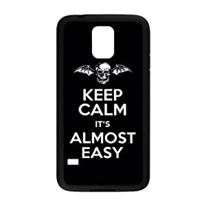 keep calm it's almost easy Phone Case for Samsung Galaxy S5 Case by lolosakes