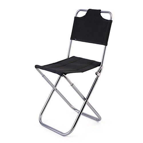 OUTAD Folding Camping Stool/ Travelchair with Utra-comfortable Backrest(0.85lb)