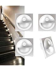 Arotelicht LED traplamp,met bewegingsmelder wandinbouwlamp,wandverlichting inbouwspot,Ttraplicht verlichting lamp,230V,voor 60 mm schakeldoos