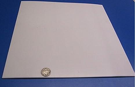 """Ptfe Virgin Plastic Sheet Plate .062"""" 1//16/"""" x 12/"""" x 11/"""" Teflon"""