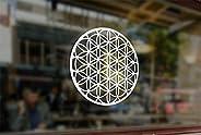 25 Centimeters Flower of Life Yoga orgonite Art Waterproof Vinyl Stickers Funny Decals Bumper Car Auto Compute