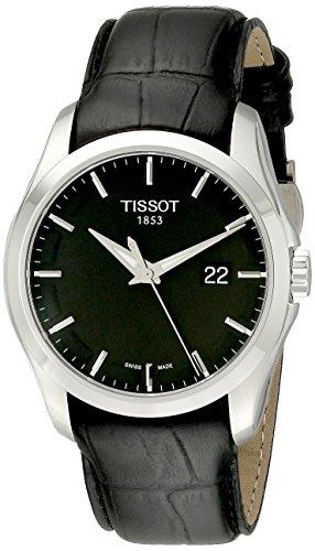 (Tissot Men's T0354101605100 Couturier Black Dial Strap Watch)