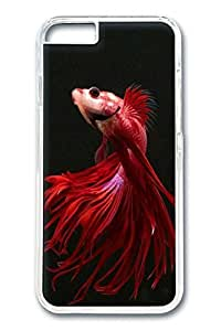 iPhone 6 Case, Red Fish Custom Hard PC Clear Case Cover Protector for New iPhone 6 4.7inch