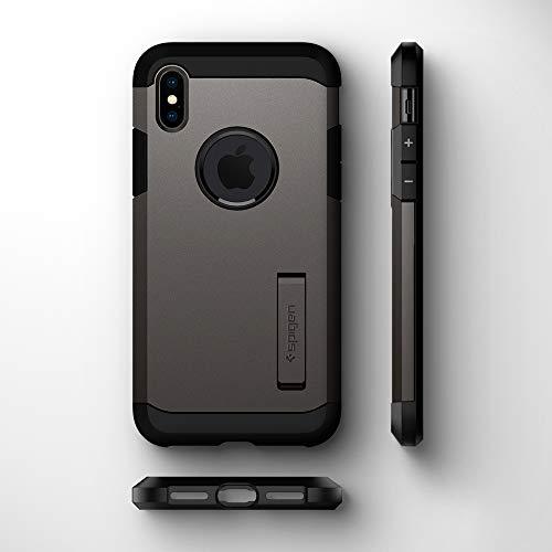 low priced abd4b dde15 Spigen Tough Armor Designed for Apple iPhone Xs MAX Case (2018) - Gunmetal