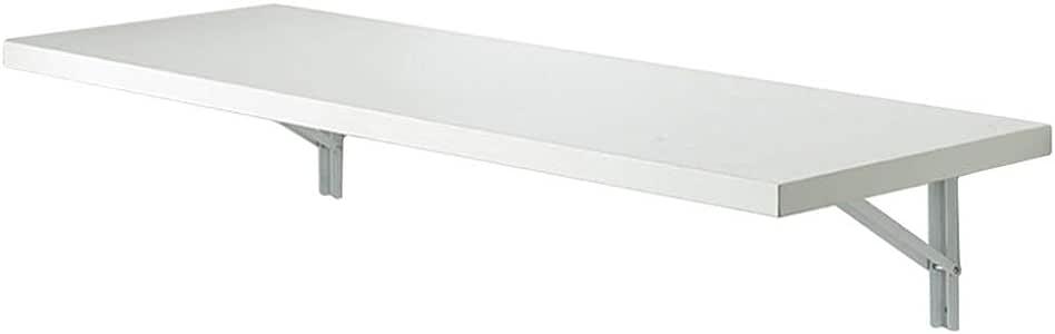 Mesa Plegable Blanca Montada En La Pared Con Soportes Resistentes ...