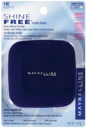 Maybelline New York service gratuit Oil Control Poudre pressée, Beige Naturel, 0,45 once