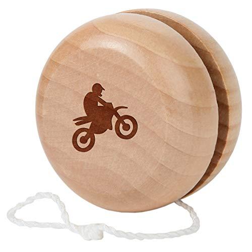 Dirtbike Engraved Maple Wood Classic Traditional Yo-Yo