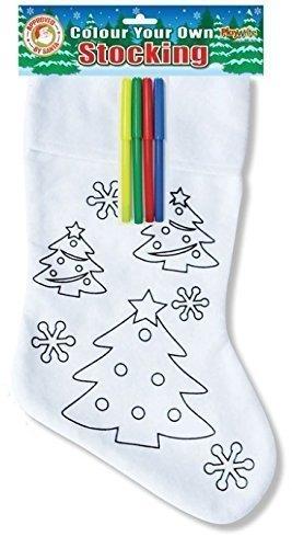 árbol de Navidad Colorea Tu Propio Calcetín & Fieltro Para Colorear Bolígrafos infantil personalizado diseño