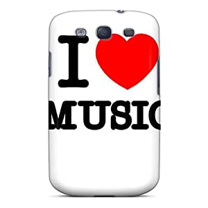 Defender Case For Galaxy S3, I Love Music Pattern