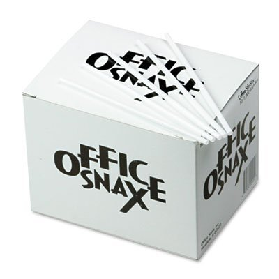 Office Snax Products - Office Snax - Plastic Stir Sticks, 5', Plastic, White, 1000/Box - Sold As 1 Box - Stir things up at break time. - Sturdy plastic. - Economical stock-up size.