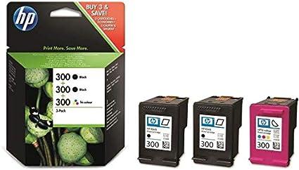 HP CN637EE 300 Cartucho de Tinta Original, 3 unidades, negro y ...