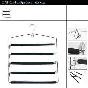 ID Space Mobea - Percha de metal para pantalones (capacidad 5pantalones)