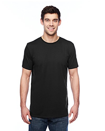 (Anvil 3.2 oz. Featherweight Short-Sleeve T-Shirt. 351 Black 2XL )