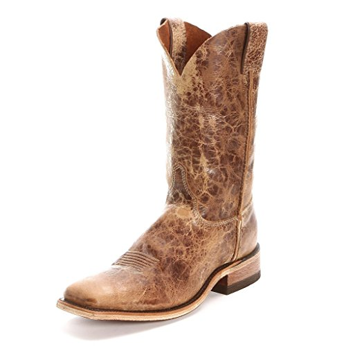 """Justin Boots Men's U.S.A. Bent Rail Collection 11"""" Boot Wide Square Double Stitch Toe Leather Outsole,Tan Road,10.5 D US"""