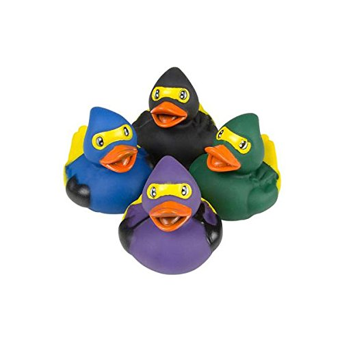 Rubber Ducks Rhode Island Novelty Ninja Duckies (Set of 4 Styles)]()