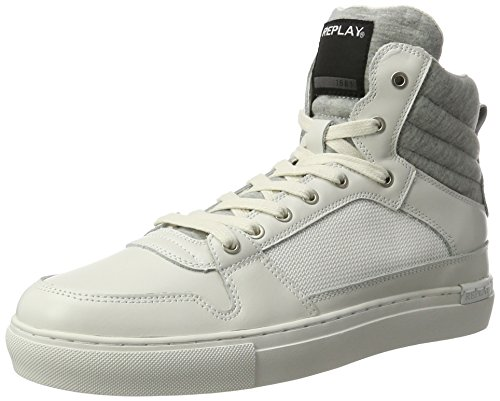 Sneakers 61 bianco bianco alte Replay Moon uomo 5qCf8